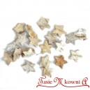 Kokosowe mini gwiazdki bielone - susz ozdobny 3cm/25szt.