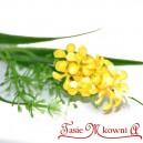 Gałązka dekoracyjna HIACYNT drobne kwiatuszki-ŻÓŁTE