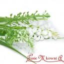 Gałązka dekoracyjna HIACYNT drobne kwiatuszki-BIAŁE