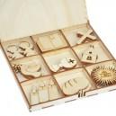 Kształtki I Komunia Święta w drewnianym pudełku 30 szt