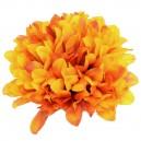 Chryzantema satynowa KREMOWA - główka kwiatowa 14cm