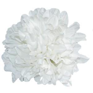 Chryzantema satynowa RUDA CIENIOWANA - główka kwiatowa 14cm