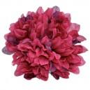 Chryzantema satynowa BIAŁA - główka kwiatowa 14cm