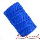 Sznurek bawełniany niebieski 100 g
