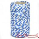 Sznurek bawełniany niebiesko-biały 100 g