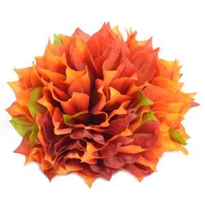 Dalia strzępiasta bordowa cieniowana - główka kwiatowa 12cm