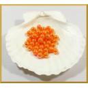 Perełki 8mm pomarańczowe opalizujące DP
