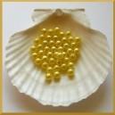 Perełki 8mm żółte
