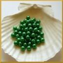 Perełki 8mm ciemno zielone