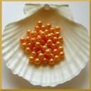 Perełki 8mm pomarańczowo złote