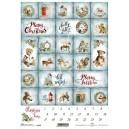 Papier ryżowy A4 R1640 kalendarz adwentowy