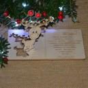 Kartka na święta życzenia z RENIFEREM + koperta, Twój podpis
