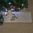 Kartka na święta życzenia z BAŁWANKIEM + koperta, Twój podpis