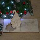 Kartka na święta życzenia ze SKRZATEM + koperta, Twój podpis