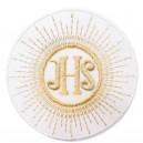 Aplikacja IHS biała ze srebrnym 1szt.