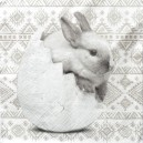 Serwetka do Decoupage pluszowy królik i jajeczka 1 szt
