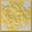 Cekiny 8mm łamane jasno żółte