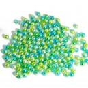 Koraliki cieniowane róż, błękit, krem pastelowe perłowe 8mm  50g