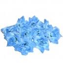 Kwiatuszki materiałowe różyczki niebieskie 4CM