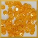 Cekiny kółka łamane 6mm - 12g żółte słoneczne matowe