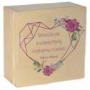 Drewniane pudełko z kolorowym nadrukiem na Dzień Matki, wzór 5