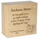Drewniane pudełko z kolorowym nadrukiem na Dzień Matki, wzór 6