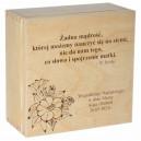 Drewniane pudełko z grawerem nadrukiem na Dzień Matki, wzór 1