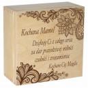 Drewniane pudełko z grawerem nadrukiem na Dzień Matki, wzór 4