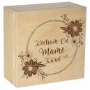 Drewniane pudełko z grawerem nadrukiem na Dzień Matki, wzór 5