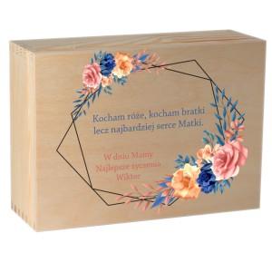 Herbaciarka na 6 przegród z nadrukiem uv na Dzień Matki, wzór nr 6