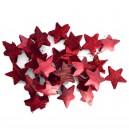 Kokosowe gwiazdki czerwone - susz ozdobny 5cm/25szt.
