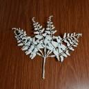 Gałązka liściasta biała 23 cm/6szt