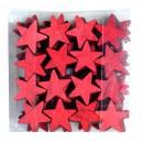 Gwiazdki drewniane czerwone 48szt