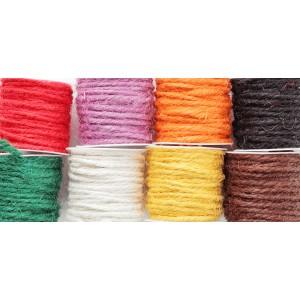 Sznurek jutowy ozdobny 8 kolorów (wrzos, brąz, krem, żółty, czarny, zielony, czerowny,pomarańcz)