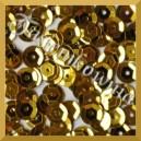Cekiny kółka łamane 8mm 17g złote metaliczne - c6