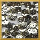 Cekiny kółka łamane 8mm 17g srebrne metaliczne - c1