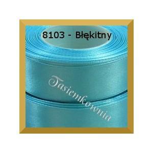 Tasiemka satynowa 38mm kolor 8103 błękitny