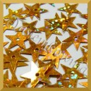 Cekiny gwiazdki złote PŁASKIE LASEROWE