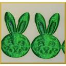 Główka króliczka zielona