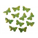 Konfetti holograficzne motyle zielone