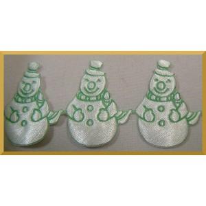 Bałwanki białe z zielonym