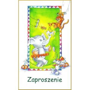 Zaproszenie na imprezkę dla dzieci/ wz.2