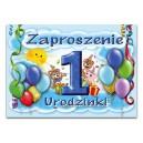 Zaproszenia na 1 urodzinki /roczek dla chłopczyka
