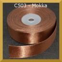 Tasiemka satynowa 25mm kolor C503 mokka