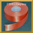 Tasiemka satynowa 25mm kolor C505 ceglany