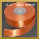 Tasiemka satynowa 25mm kolor C506 orzech jasny
