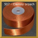 Tasiemka satynowa 25mm kolor C507 orzech ciemny