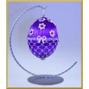STOJAK na jajko 12cm SREBRNY wieszak