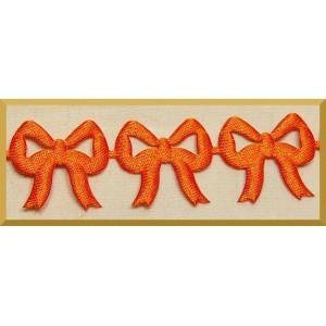 Kokardki ażurowe pomarańczowe
