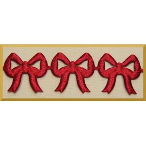 Kokardki ażurowe bordowe